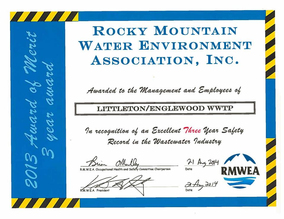 RMWEA Safety Award